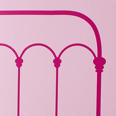 Wrought Iron Twin Headboard Decal (Hot Pink)