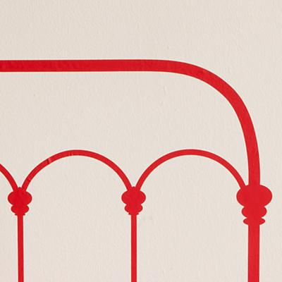 Red Twin Wrought Iron Headboard Decal