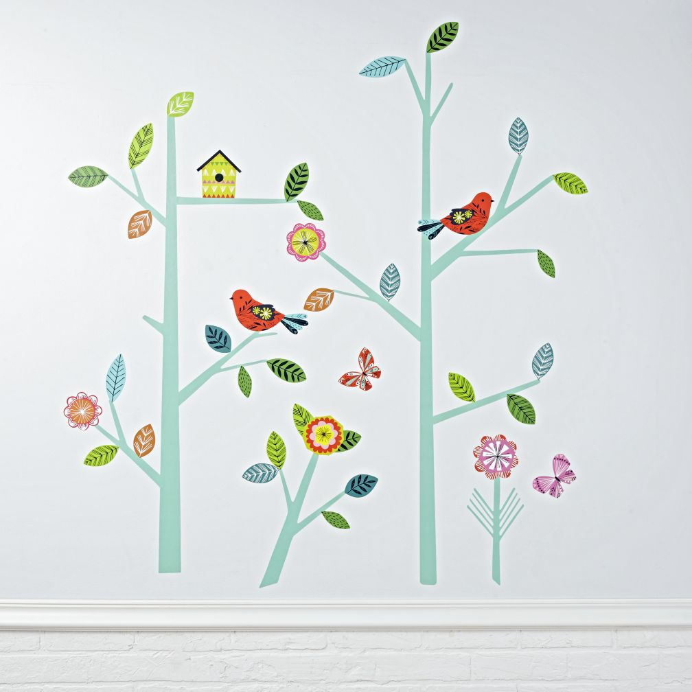 Kids wall decals and stickers the land of nod blooming tree decal amipublicfo Image collections