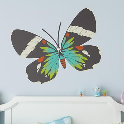 Blue Moth Butterfly Decal