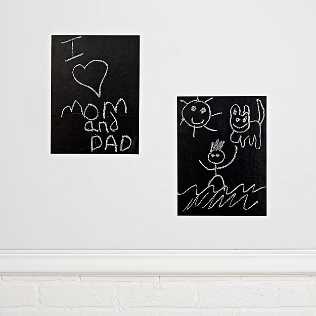 Chalkboard Black Decals (Set of 2)