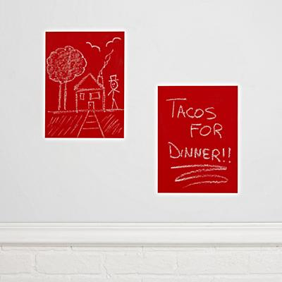 Chalkboard Red Decals (Set of 2)