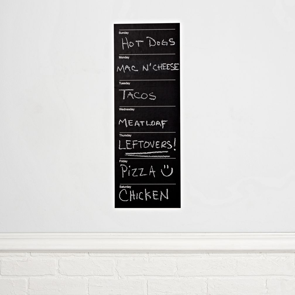 Weekly Chalkboard Calendar Decal