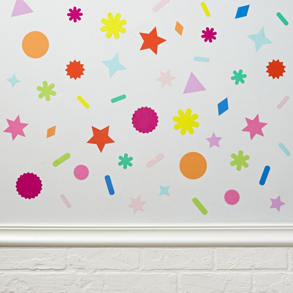 kid  baby wall art under   the land of nod - confetti decals