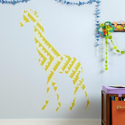 Large Giraffe Flashy Forest Decal