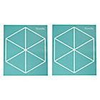 Aqua Triangle Geometric Furniture Decal.