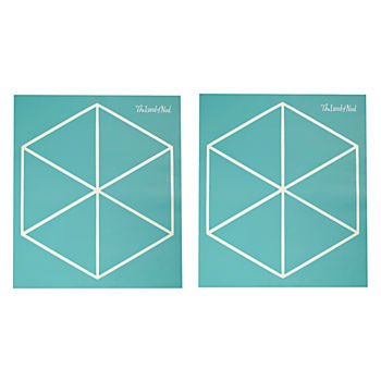 Geometric Furniture Decal (Aqua Triangle)