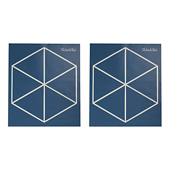 Geometric Furniture Decal (Blue Triangle)