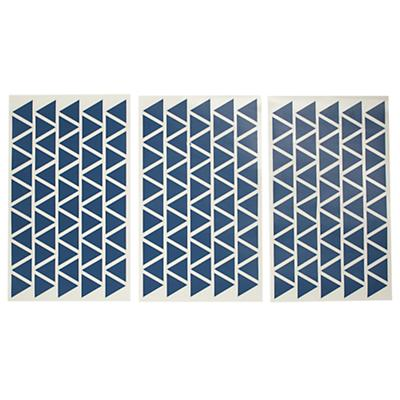 Geometric Furniture Decal (Blue Mini Triangle)