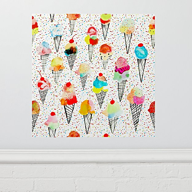 Ice Cream Poster Decal