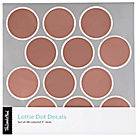 Lottie Dot Rose Gold Decals