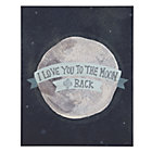 Blue Moon and Back Poster Decal