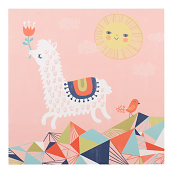 Leaping Alpaca Poster Decal