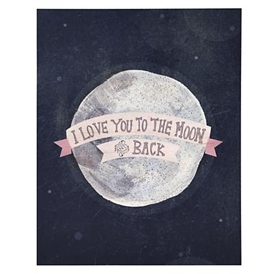 I Love You to the Moon and Back Poster Decal (Pink)