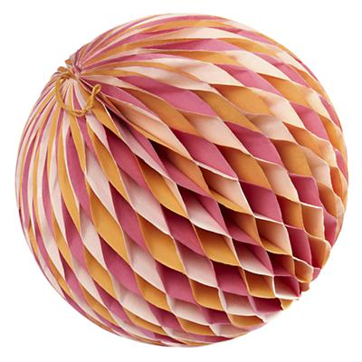 Large Well Rounded Paper Ball (Orange)