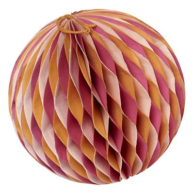 Medium Well Rounded Paper Ball (Orange)