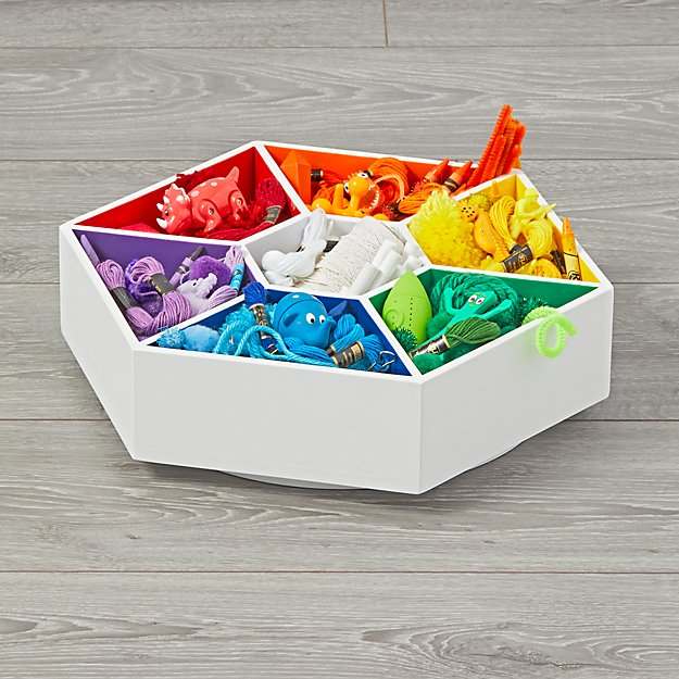 Multicolor Lazy Susan Art Caddy