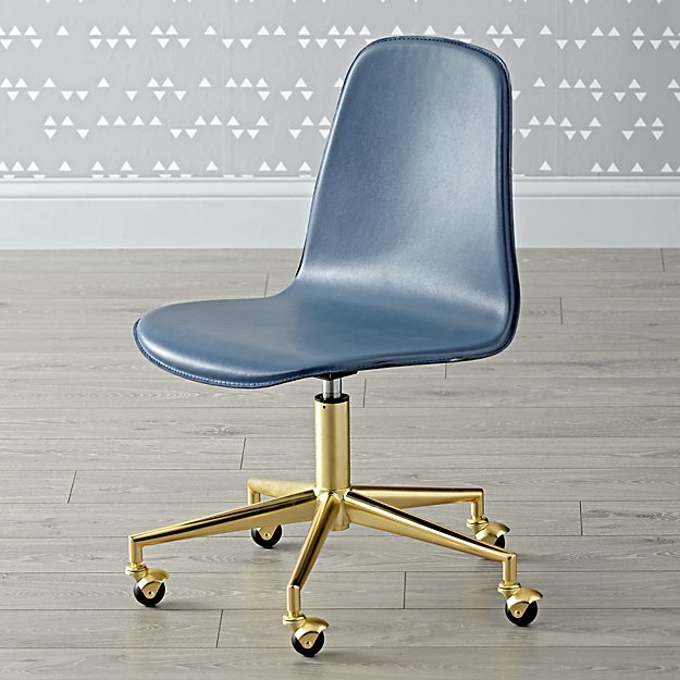 Class Act Dark Blue & Gold Desk Chair