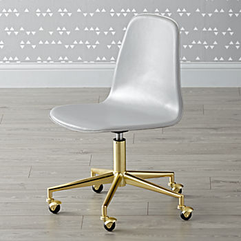 Class Act Light Grey & Gold Desk Chair