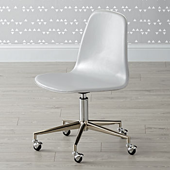 Class Act Light Grey & Silver Desk Chair