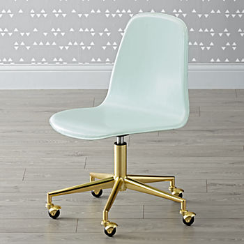 Class Act Mint & Gold Desk Chair