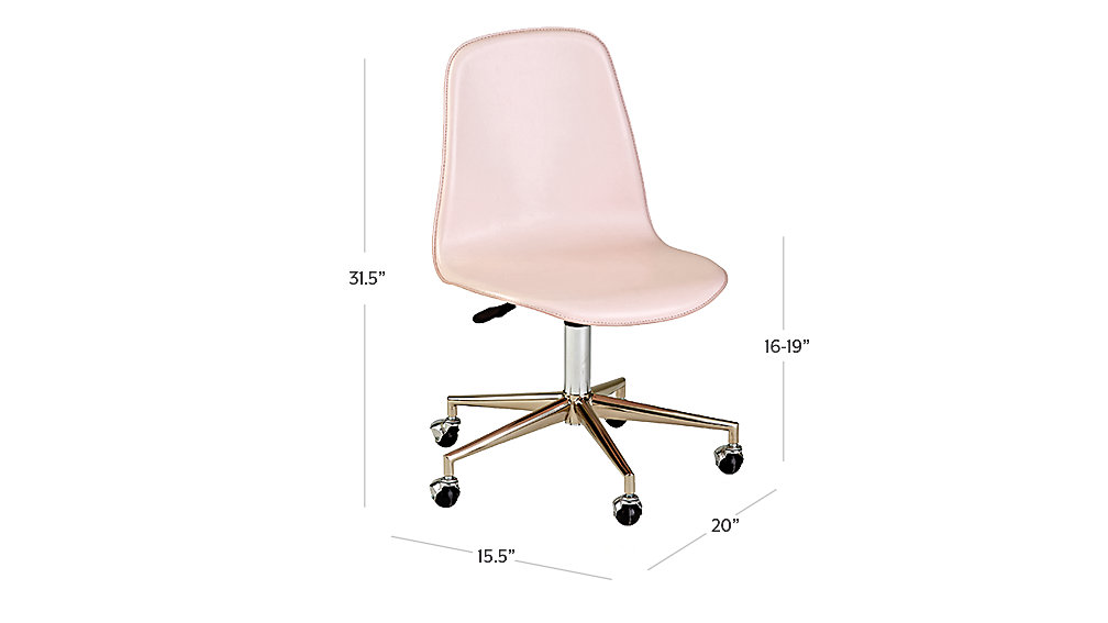 Class Act Pink Amp Silver Desk Chair The Land Of Nod