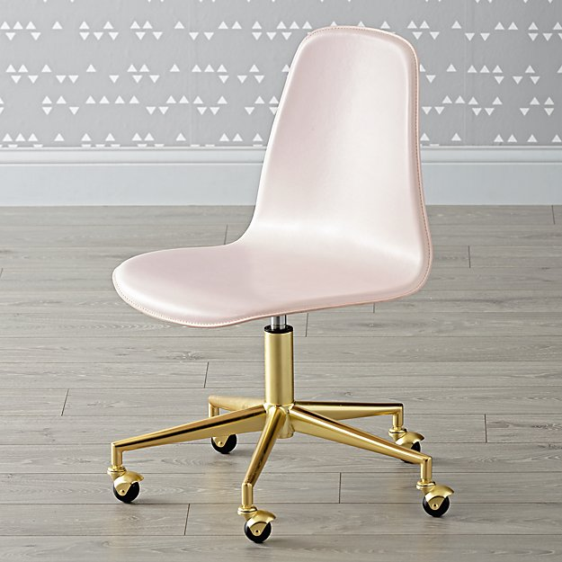 Class Act Pink Amp Gold Desk Chair The Land Of Nod