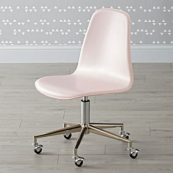 Class Act Pink & Silver Desk Chair