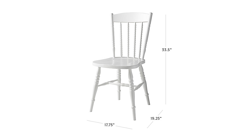 View Dimensions for Jenny Lind Spindle Desk Chair