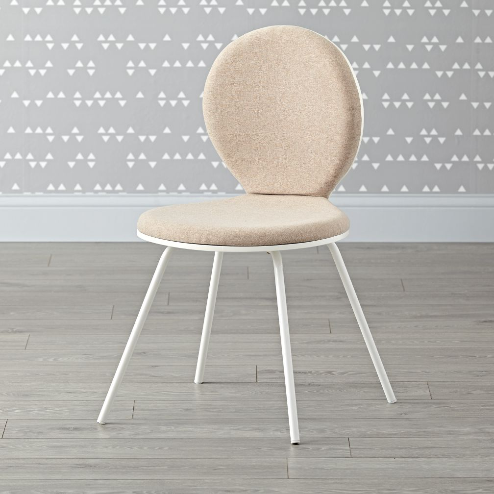 - Kids White Upholstered Desk Chair The Land Of Nod