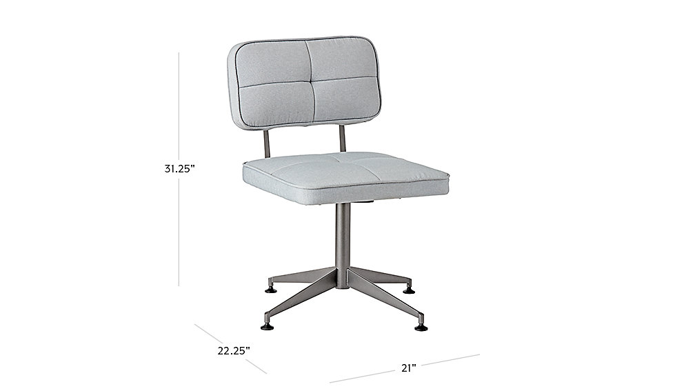 tuft grey desk chair dimensions - Tufted Desk Chair