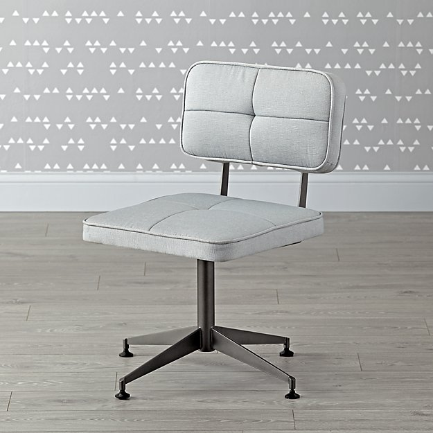 grey tufted desk chair | the land of nod