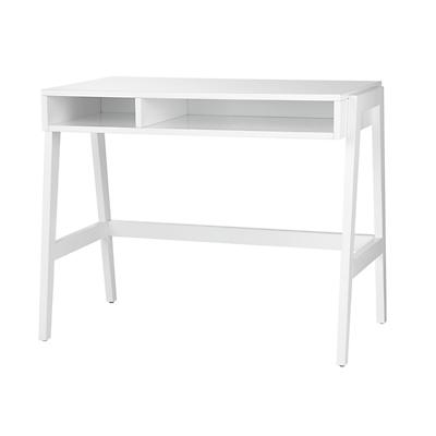 Prairie School Desk (High-gloss White)