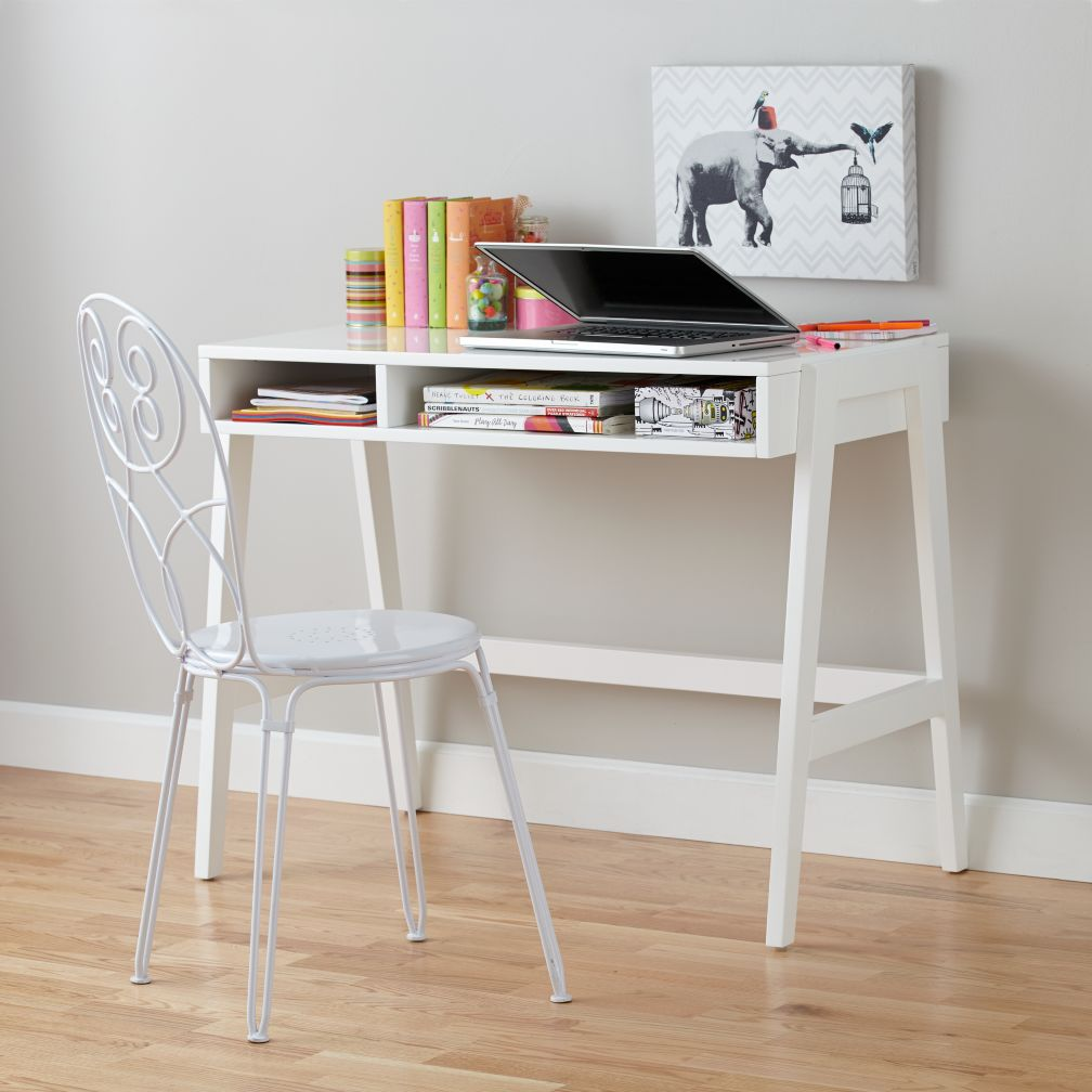 Prairie School Desk (White)