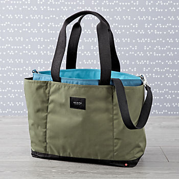 State Wellington Green Diaper Bag