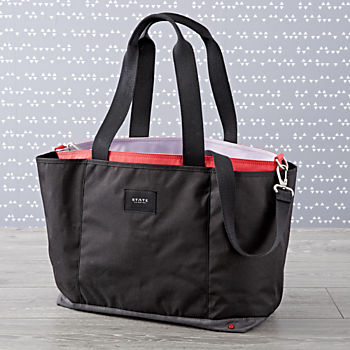State Wellington Black Diaper Bag