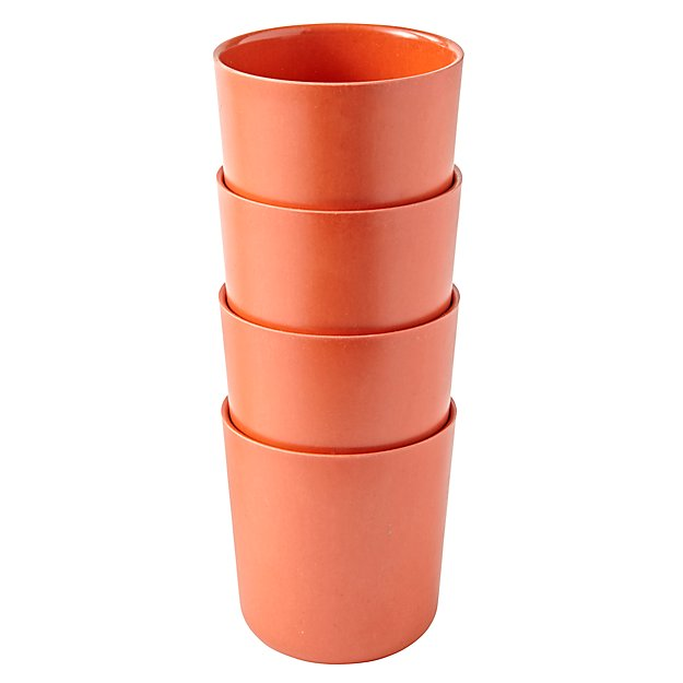 Set of 4 Gusto Small Cups (Orange)
