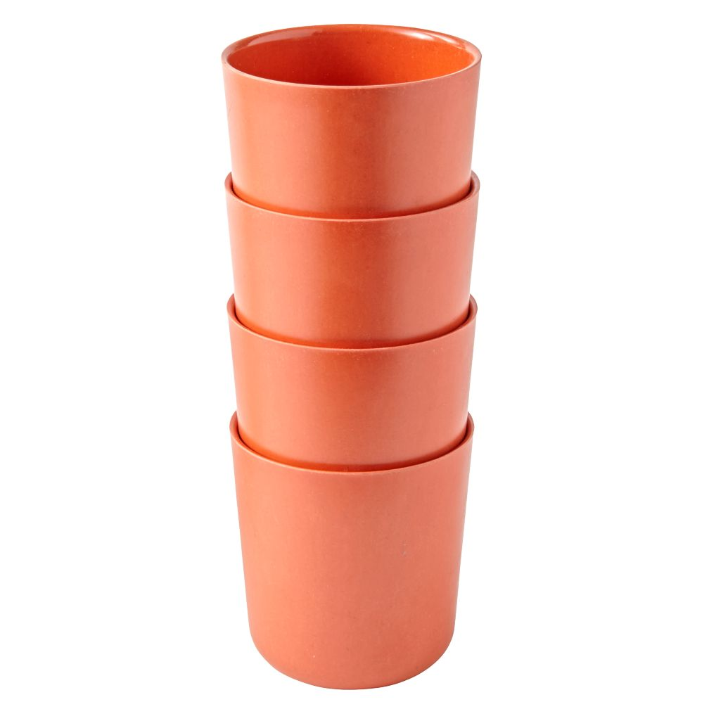 Orange Gusto Cups (Set of 4)