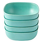 Aqua Set of 4 Gusto Large Bowls
