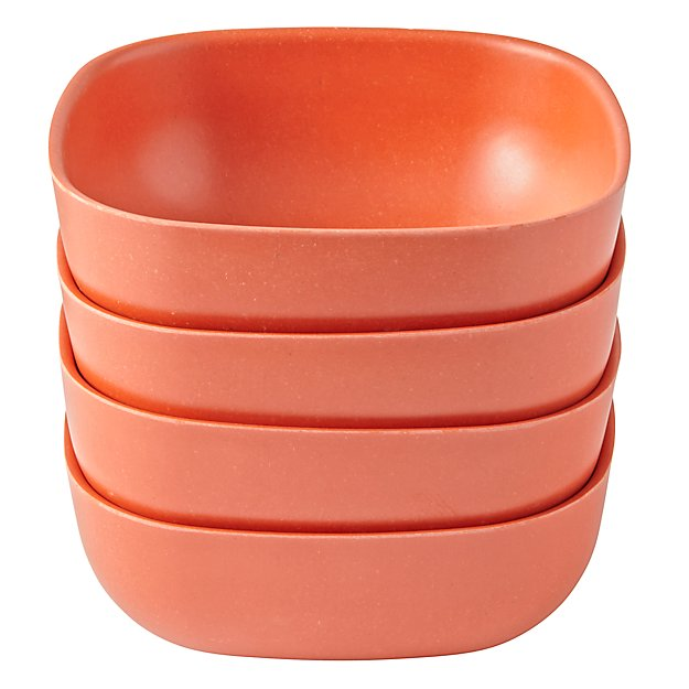 Set of 4 Gusto Large Bowls (Orange)