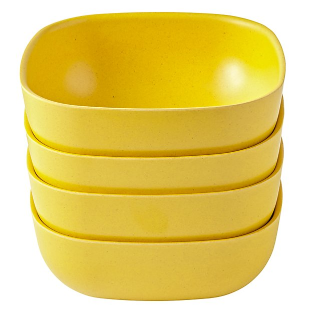 Set of 4 Gusto Large Bowls (Yellow)