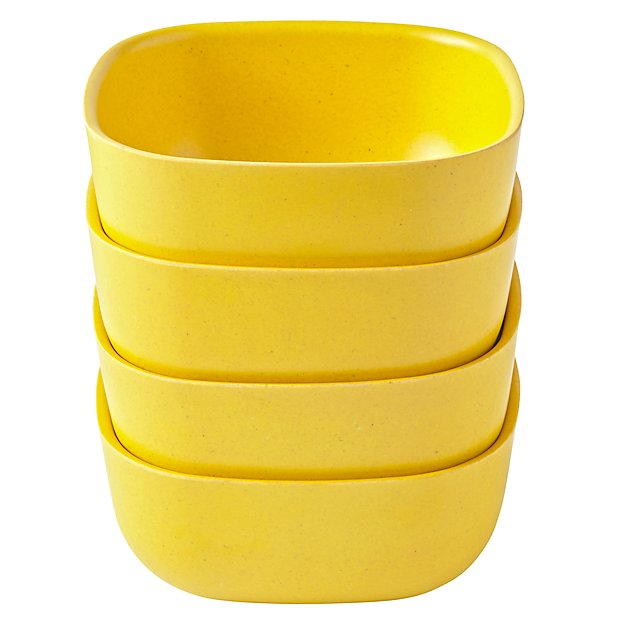Set of 4 Gusto Small Bowls (Yellow)