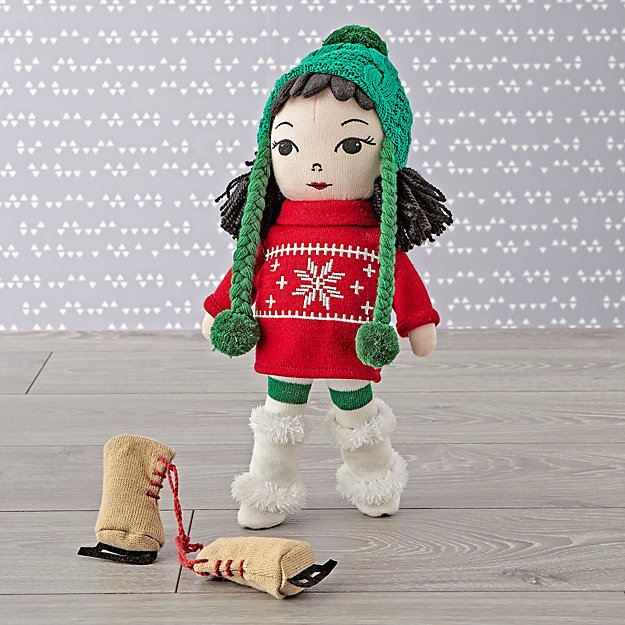 Snow Day Knitted Doll