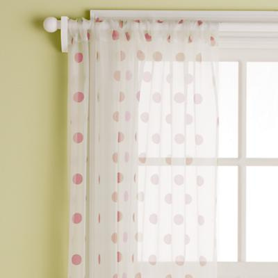 "84"" Dot Curtain Panel (Cranberry)"