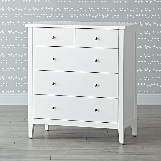 Blake White 5-Drawer Dresser