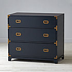 Midnight Blue 3-Drawer Campaign Dresser