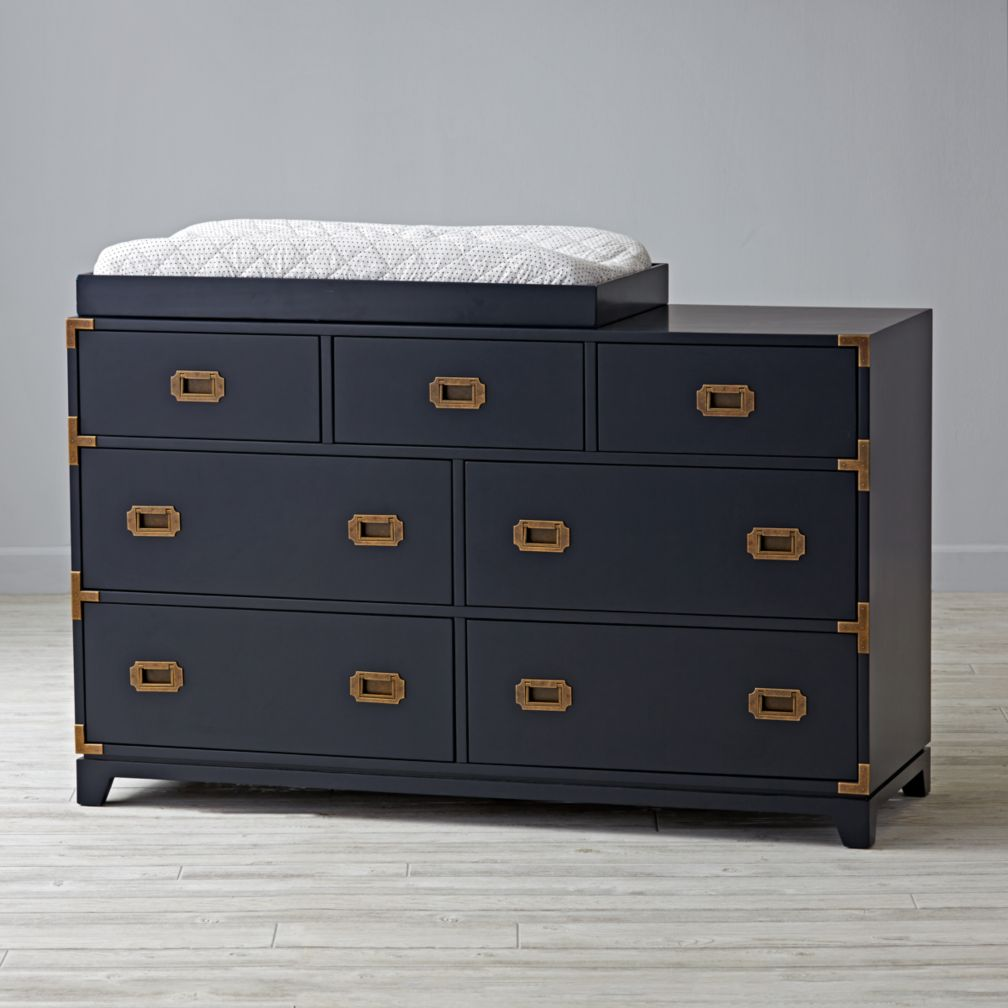 Campaign Wide Changing Table (Midnight Blue)