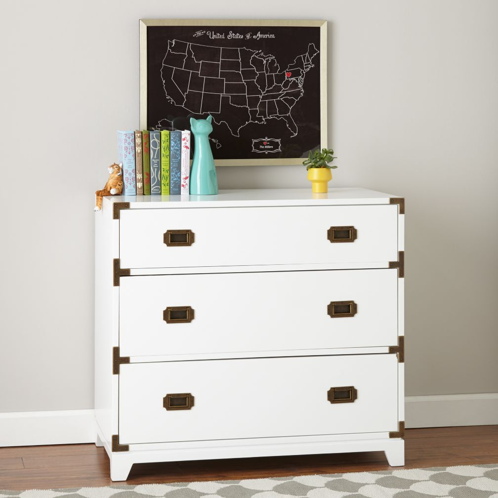 White Campaign Dresser The Land Of Nod