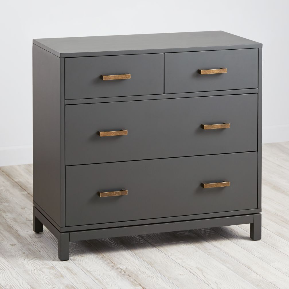 Quality Dressers cargo 2-over-2 dresser (charcoal) | the land of nod