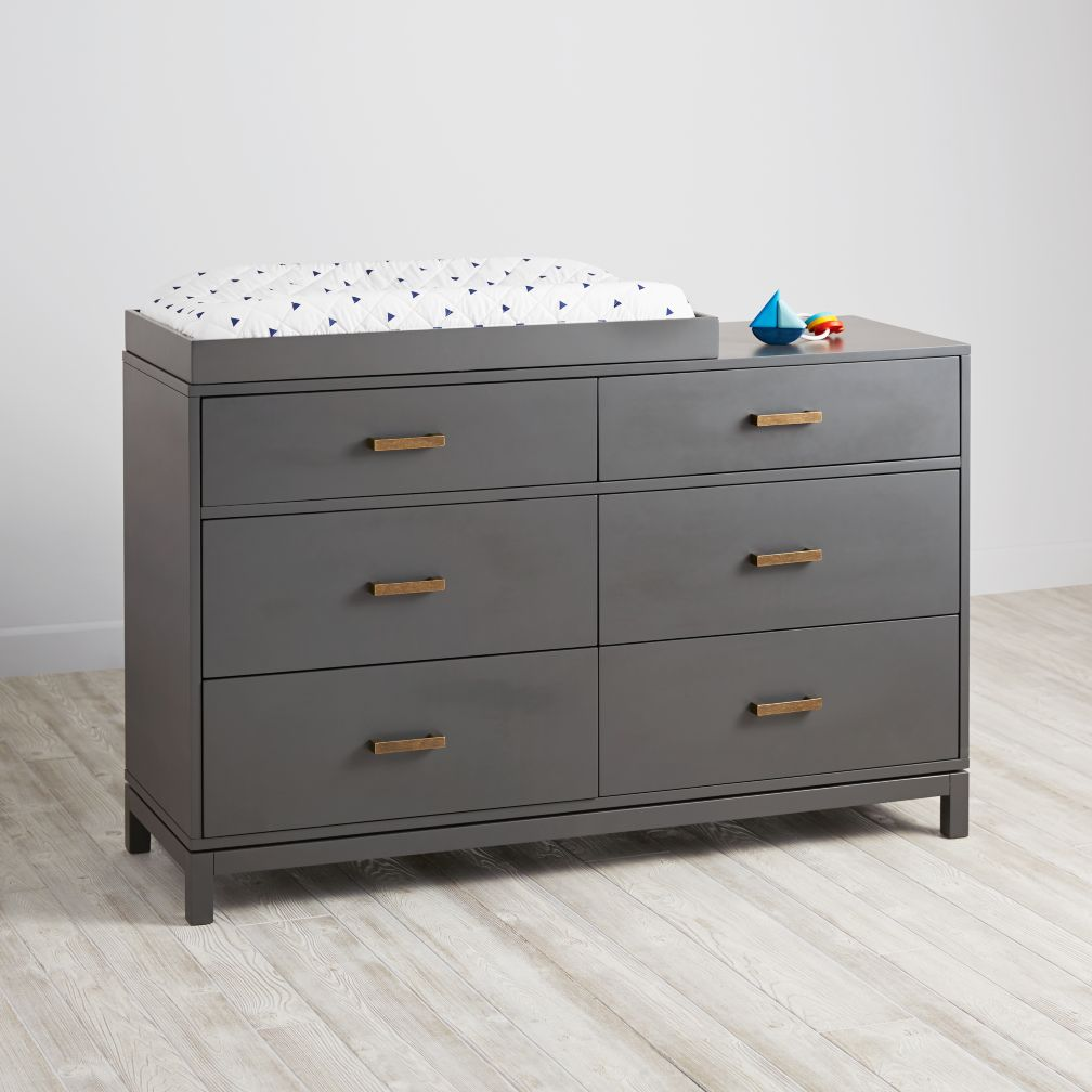 Cargo 6-Drawer Changing Table  (Charcoal)